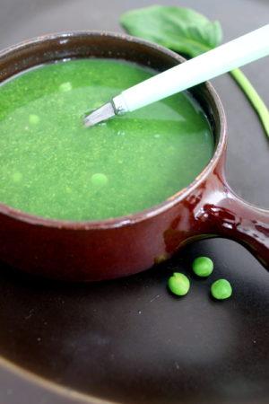 doperwten spinazie soep. recept voor 1 persoon